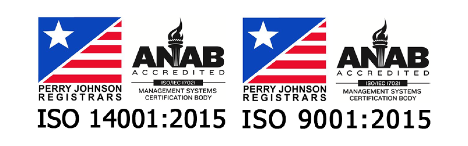 ISO 14001:2015 / ISO 9001:2015 Certified